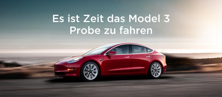 Tesla lädt Schweizer zu Probefahrten mit dem Model 3 ein