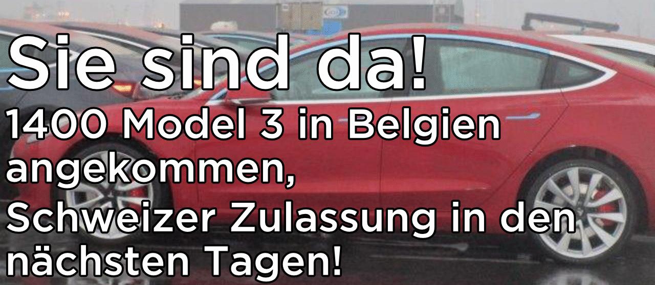 Model 3 bald auf Schweizer Strassen unterwegs!