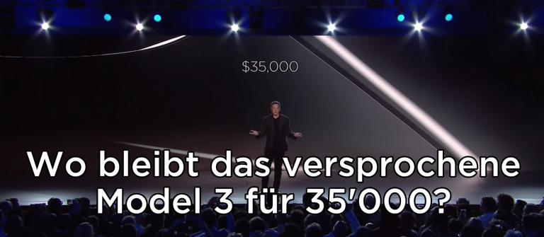 Wo bleibt das Model 3 für $35'000?