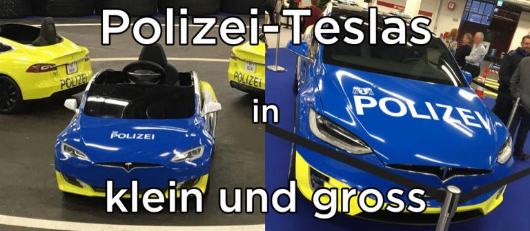 Polizei-Teslas für Gross und Klein in klein und gross