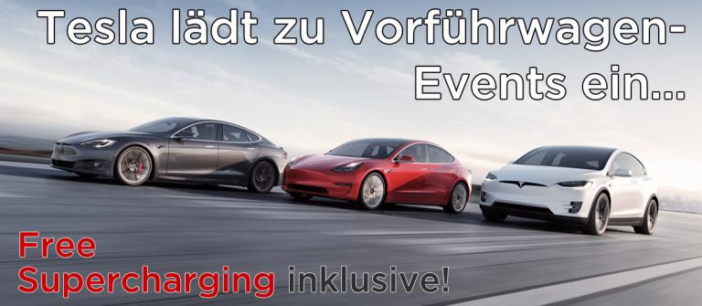 Tesla lädt zu Vorführwagen-Events ein