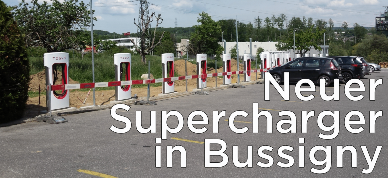 Neuer Supercharger in Bussigny bei Lausanne